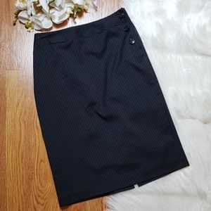 Talbots wool/silk blend pinstripe pencil skirt